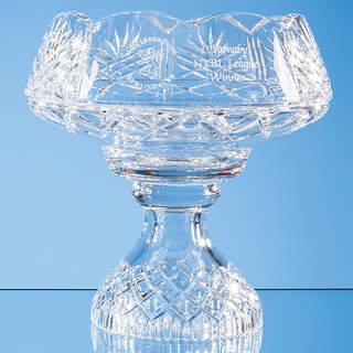 25cm Lead Crystal Scalloped Footed Bowl