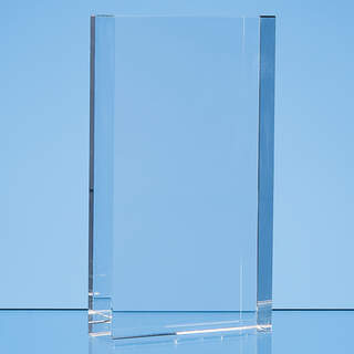 17cm x 10cm Optical Crystal Rectangle Award, H or V