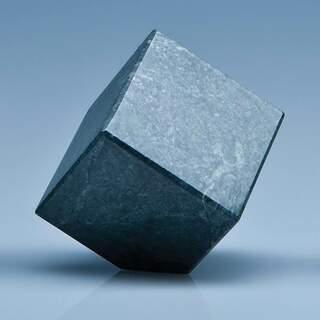 6cm Green Marble Bevel Edged Cube