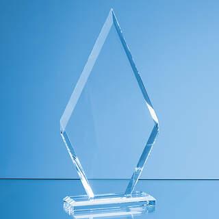20.5cm x 10.5cm x 10mm Clear Glass Le Diamond Award in a Gift Box