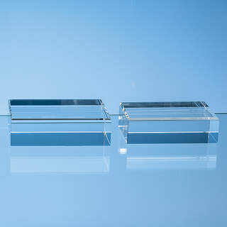 12.5cm x 7.5cm Optical Crystal Base