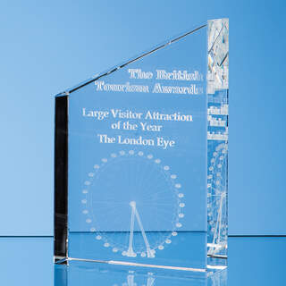 20cm Optical Crystal Diagonal Slope Award