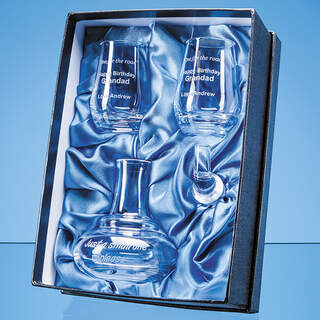 0.1ltr Handmade Whisky Still Mini Decanter & 2 Shot Glasses Gift Set