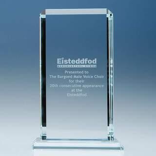 23cm x 12.75cm x 12mm Clear Glass Echo Award
