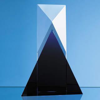 28cm Nik Meller Design Clear Optical Crystal & Cobalt Blue Mixx Award
