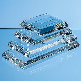 12.5cm x 7.5cm Clear Glass Base