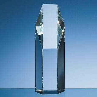 19cm Optical Crystal Hexagon Award