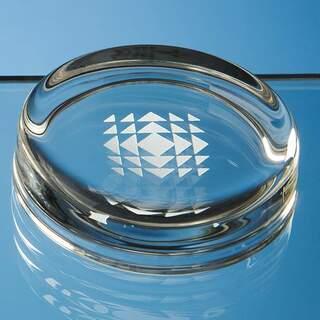 7cm Round Glass Paperweight