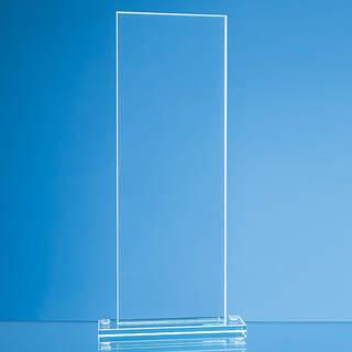 20cm x 9.5cm x 12mm Jade Glass Tall Rectangle Award