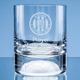 10oz Handmade Football Base Whisky Tumbler